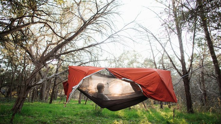 The tent is capable of holding two people at ground level, one when raised off the ground.