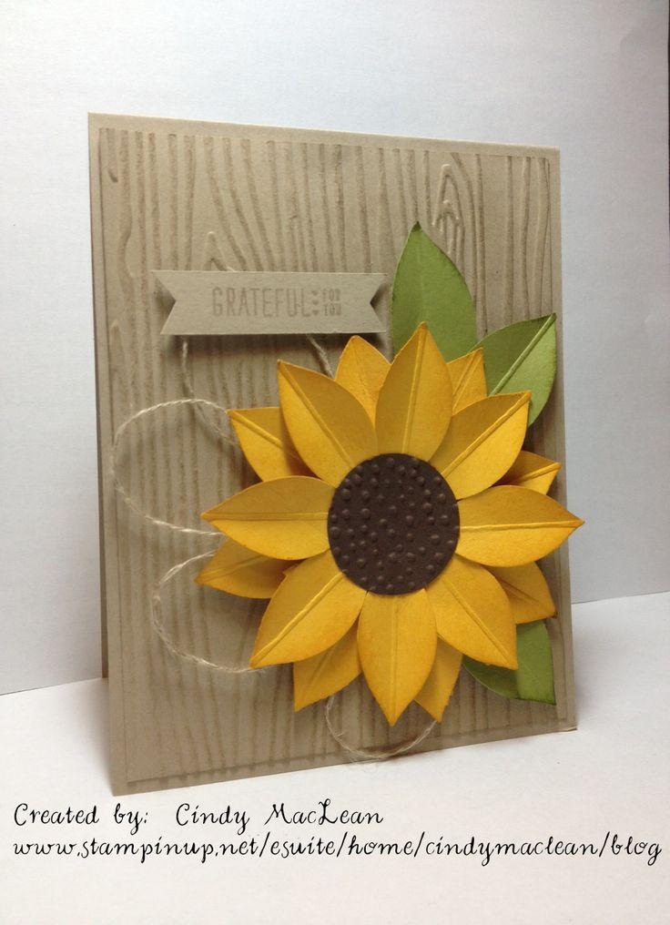 #GDP007, Festive Flower Build Punch sunflower.