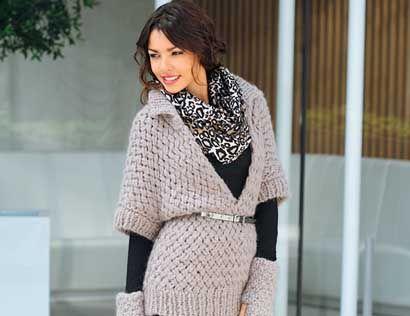 Описание вязания на спицах пуловера с глубоким вырезом из журнала «Verena. Модное вязание» №2/2014