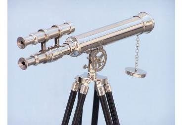"Floor Standing Chrome Griffith Astro Telescope 45"""