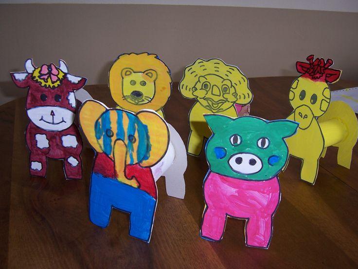 animaux avec rouleau papier toilette animaux de la ferme craft
