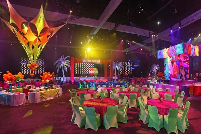 The Recording Academy's Grammy Celebration. The official after-party for 5,000 guests took to the Los Angeles Convention Center with a Rio carnival theme.