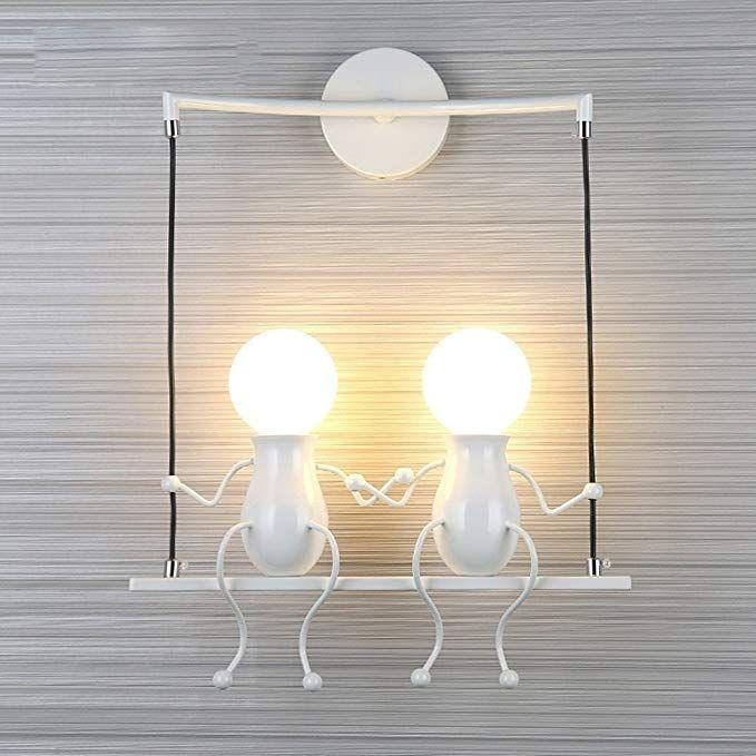 Fsth Einfache Wandleuchte Schwingen Metall Wandleuchte Kreatives Wandlampe Cartoon Lampe Fur Bar Schlafzimmer Kuch Wandlampe Wandleuchte Schlafzimmerleuchten