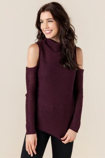 Caraway Cold Shoulder Sweater