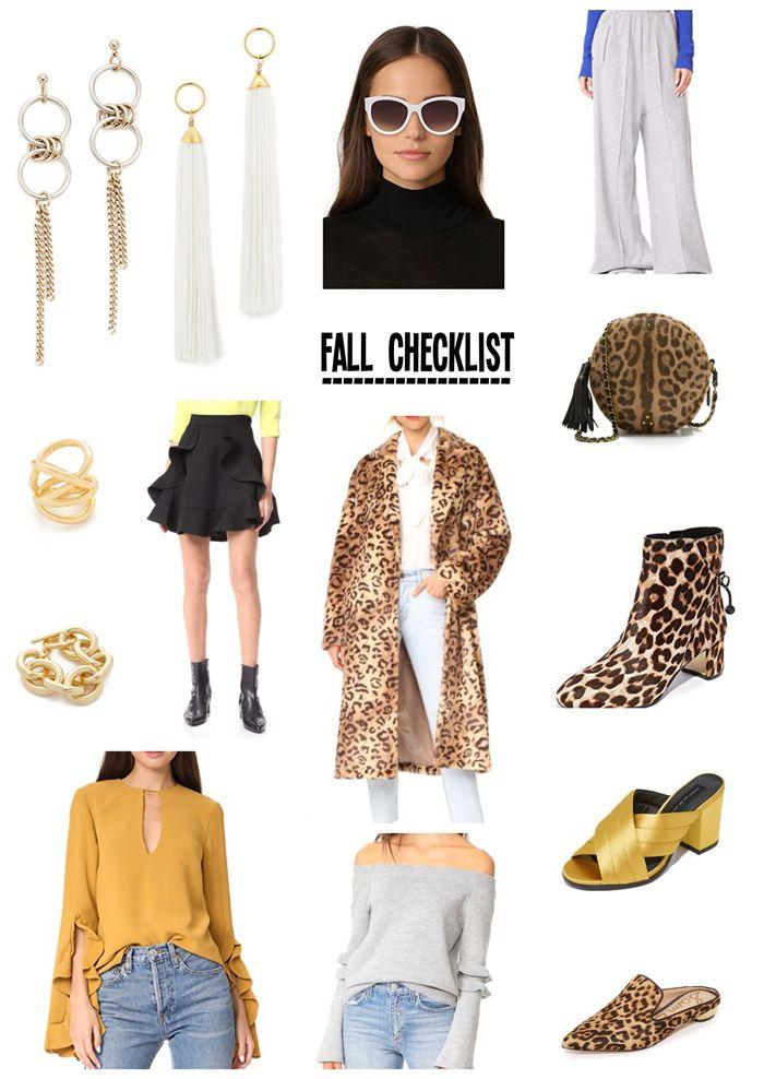 Fall Fashion Checklist - April Golightly