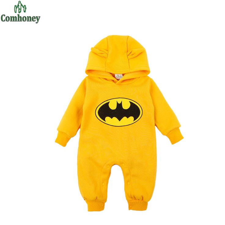 4colors Baby Boy Romper Halloween Newborn Baby Clothes Cute Hero Batman Thicken Cotton Bebes Children Toddlers Winter Rompers
