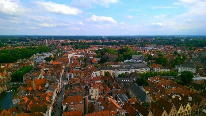 Brugge's belfry view