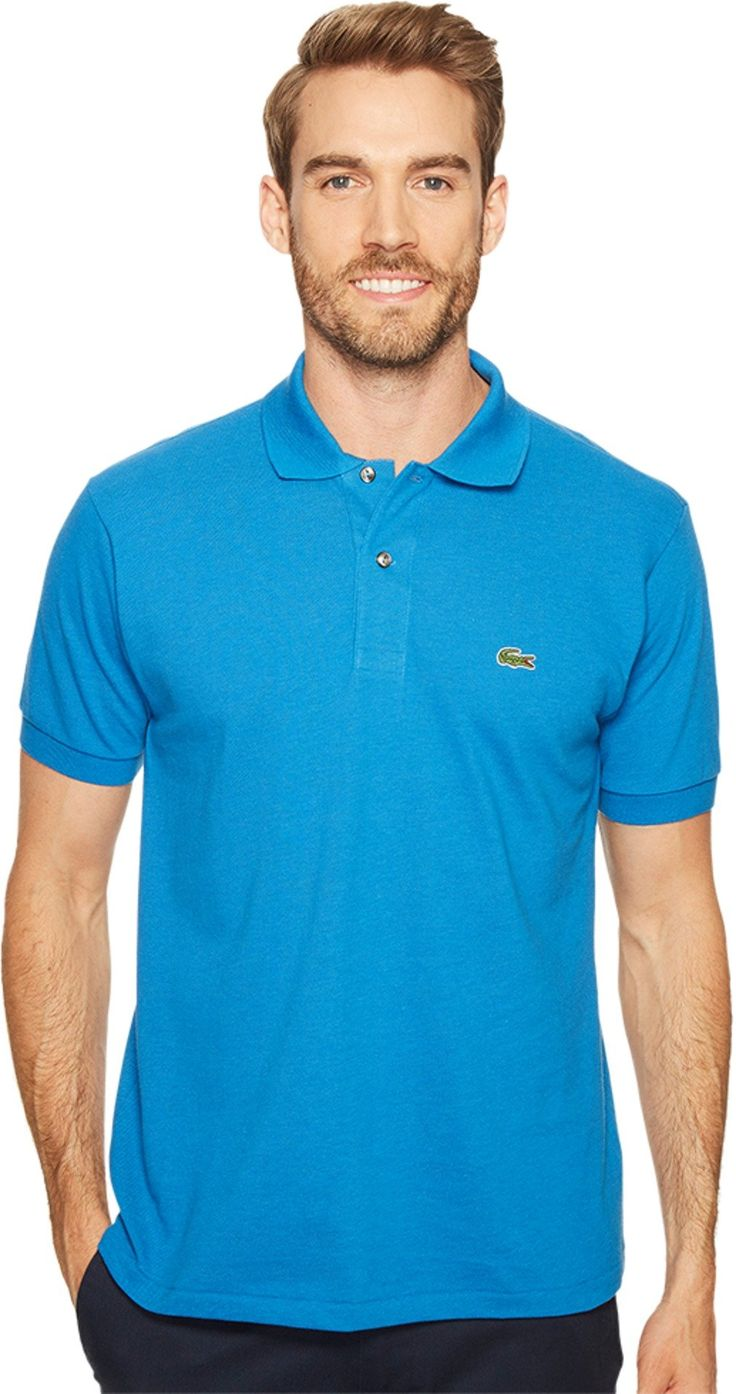 Lacoste Men's Short Sleeve Original Heathered Pique Polo Saphir Chine Shirt