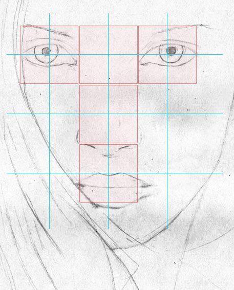 Weibliches Gesicht zeichnen lernen – Porträt – Portait – Frau – Mund Nase Zeichenkurs