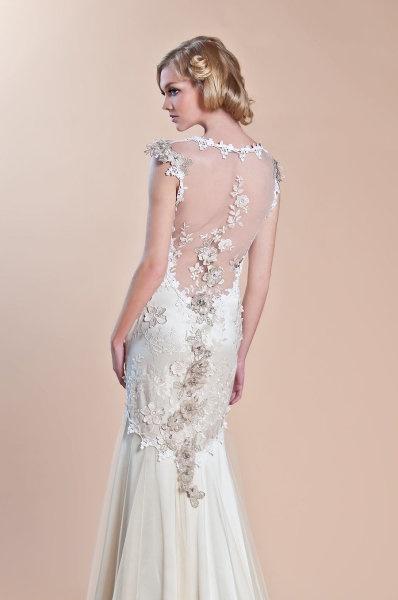 Claire Pettibone 'Viola' wedding gown