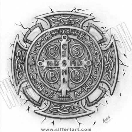 Tattoo - St. Benedict medal