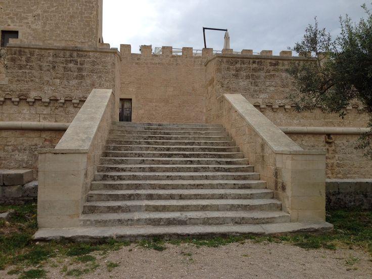 Terrazza retro del #Castello di #Corigliano d'Otranto (Le) in #Puglia. Location #matrimonio civile