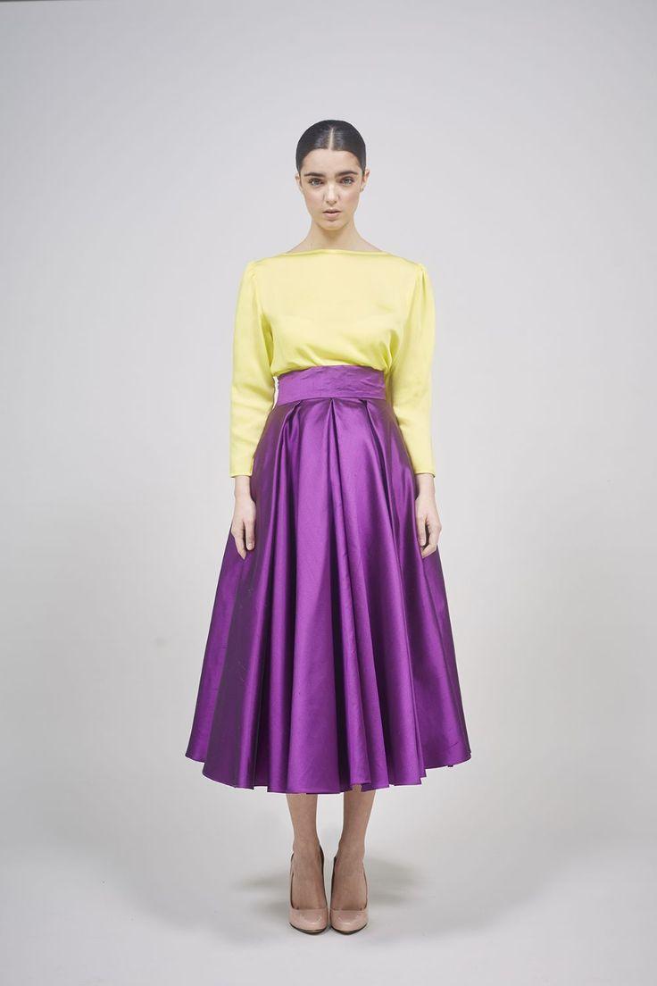 Coosy - Falda de seda años 50