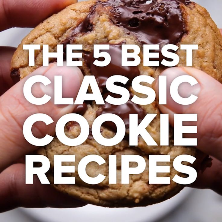 The 5 Best Classic Cookie Recipes // #cookies #dessert #recipes #chocolatechip #snickerdoodle #Tasty
