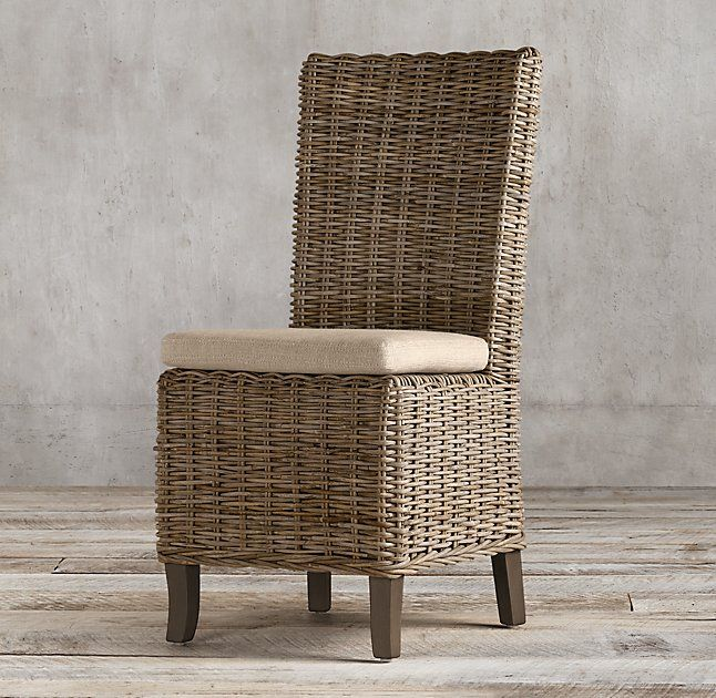 Handwoven Rattan Side Chair For Dining Room