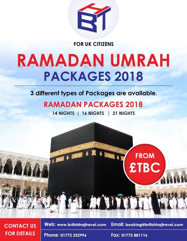 Umrah packages in Ramadan 2018 are available for UK Citizen. http://www.britishhajtravel.com/package/umrah-packages/ramadan-umrah-package-14-night/
