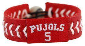 St. Louis Cardinals Albert Pujols Team Color Jersey Baseball Bracelet