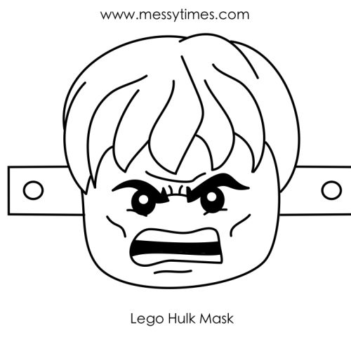 Simple Lego Avengers Coloring Pages