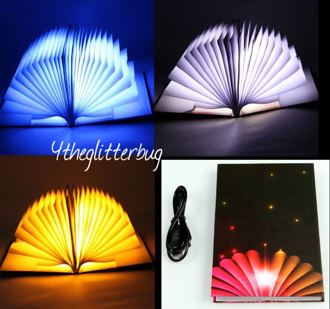 Book Lamp. LED and USB Lighting. NOTE: This ebay store no longer exists.