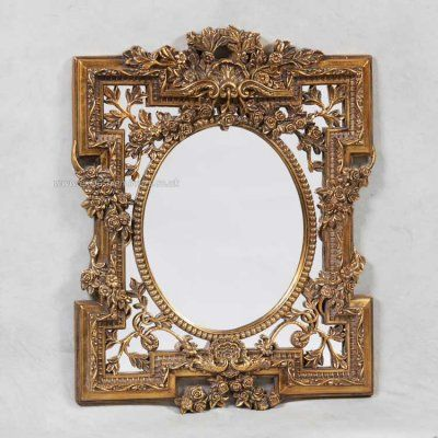 Rosemary antique mirror with ornate gold frame