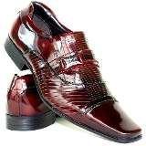 Sapato Social Masculino Couro Verniz Vinho Presente Namorado - R$ 169,88