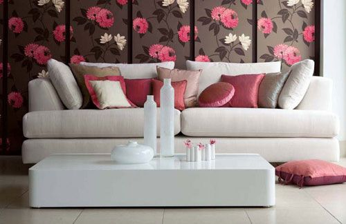 pink gray white