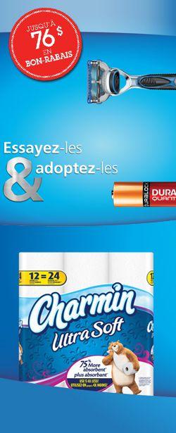 Nouveau carnet de coupons P&G.  http://rienquedugratuit.ca/coupons/carnet-de-coupons-pg/