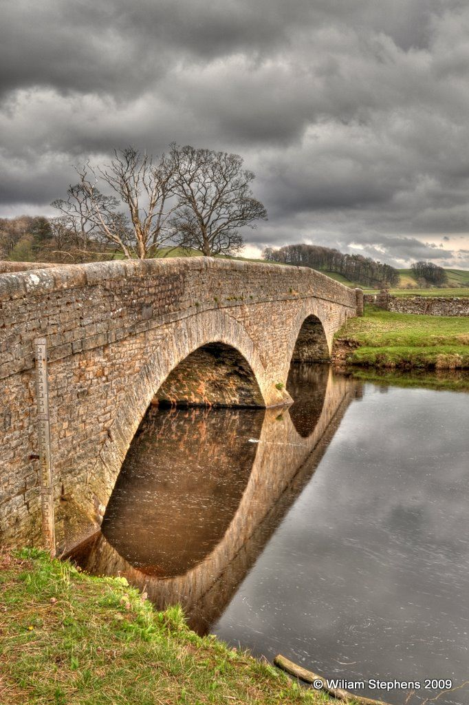 Reflections in the Ure, Hawes Yorkshire UK