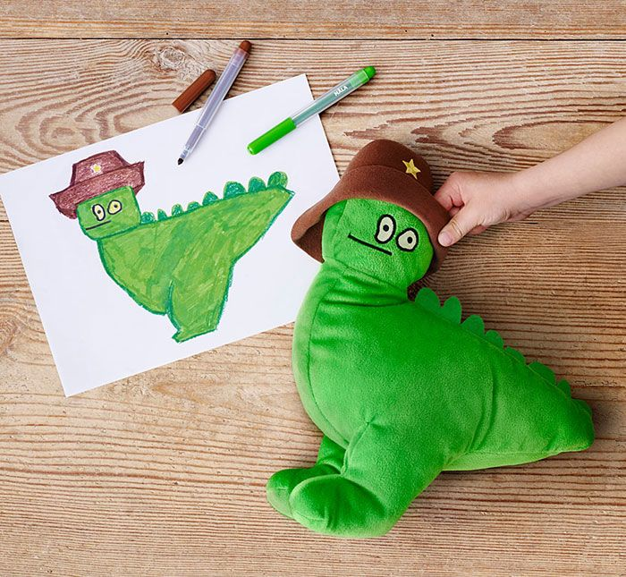 IKEA Turned Children's Drawings Into Real Plush Toys To Raise Money For Charity - Thymeo, 4 years old, Belgium