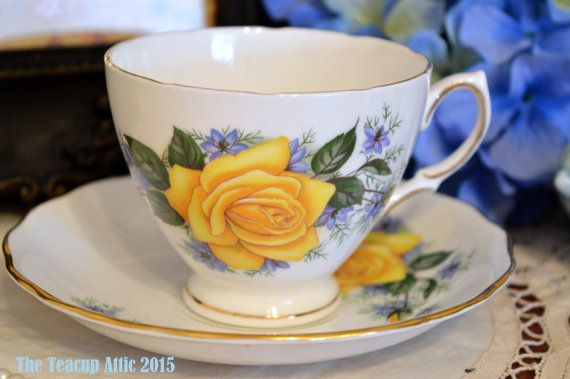 Royal Vale Teacup and Saucer Set Featuring Large by TheTeacupAttic