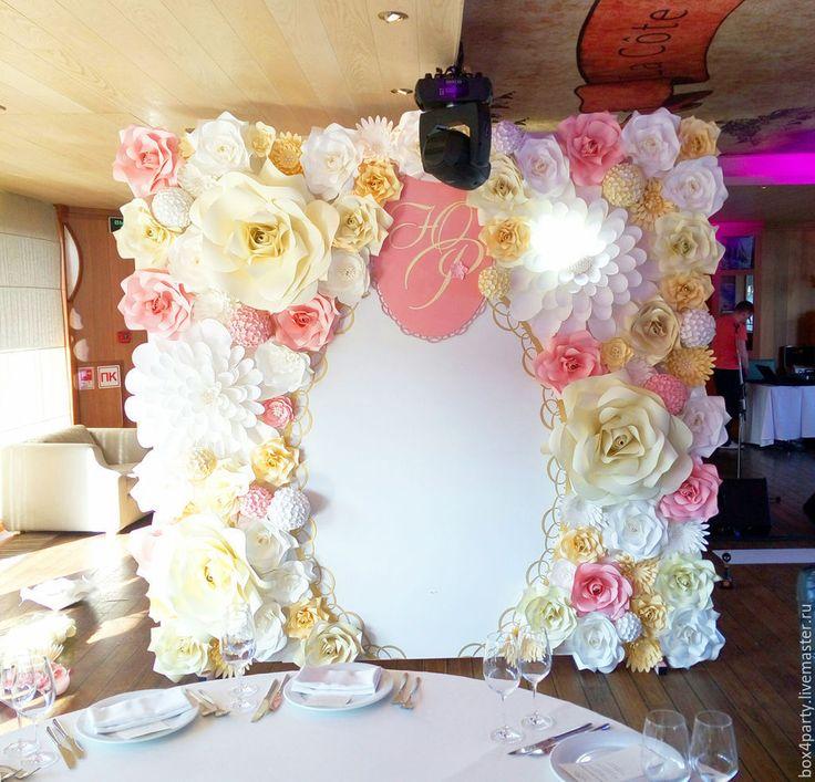 Купить Ширма в Аренду - белый, цветы, ширма, цветы из бумаги, цветы своими руками, свадьба