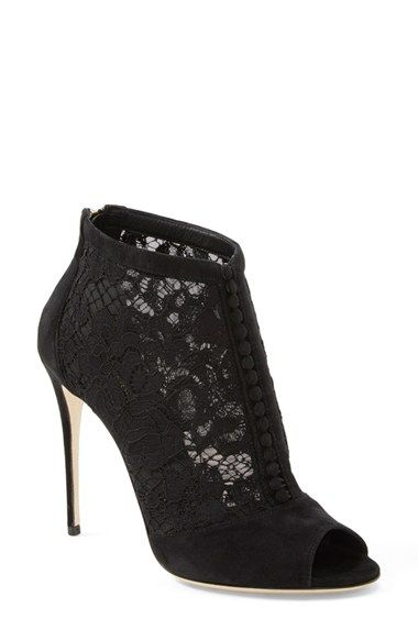 Dolce&Gabbana Peep Toe Bootie (Women) available at #Nordstrom