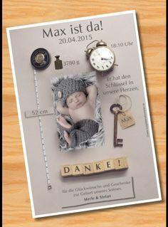 Baby- & Geburtskarten - Danksagung Danksagungskarten Geburt Taufe mit Foto - ein Designerstück von Ausgefallene-Fotokarten bei DaWanda