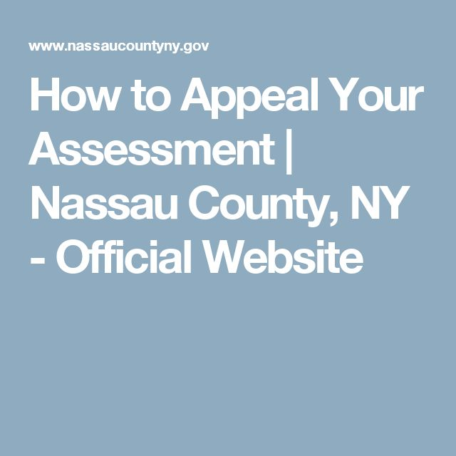 How to Appeal Your Assessment   Nassau County, NY - Official Website