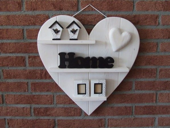 Heart with black and white Accessoires - Scroll Saw Woodworking & Crafts Photo Gallery