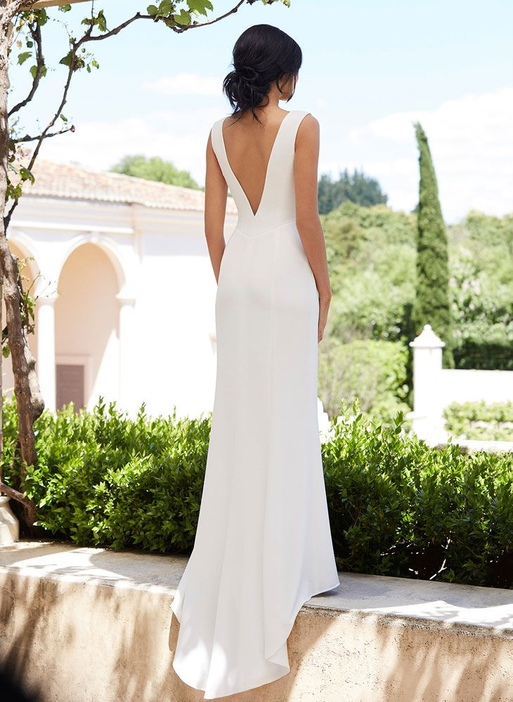 Minimal Wedding Dress Back