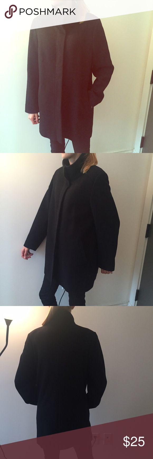 Wool warm winter coat Very good quality square shape wool winter coat Marks & Spencers Jackets & Coats Pea Coats