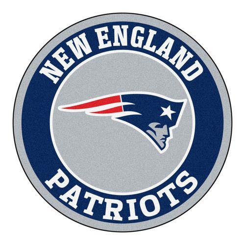 "New England Patriots 27"""" Roundel Area Rug Floor Mat"