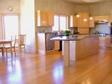 with linen coloured counter tops