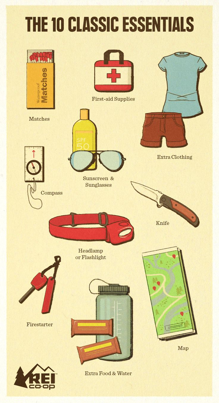 Check out the updated 10 Essentials list for items to take with you every time you head out for a hike.