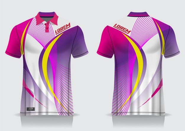Download T Shirt Polo Sport Design Badminton Jersey Mockup For Uniform Template In 2020 Polo Design Sports Design Jersey Design