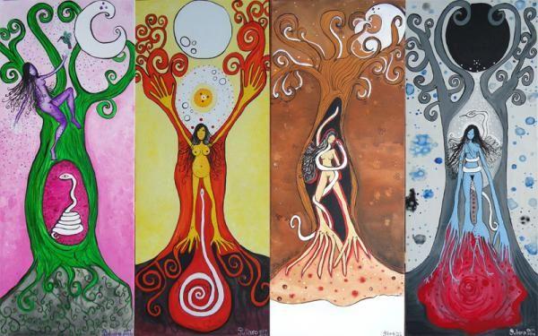 """""""Libro de las sombras"""". Del ciclo menstrual y el ciclo lunar: Luna roja (IV de XII) - Gurusomos"""