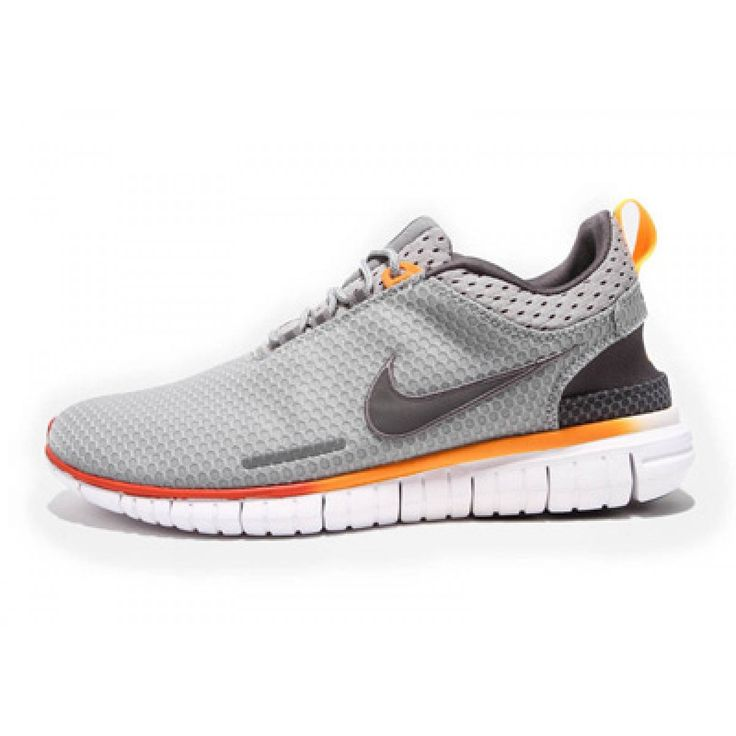 Nike Free OG Breathe Running Shoes Grey Silver Orange