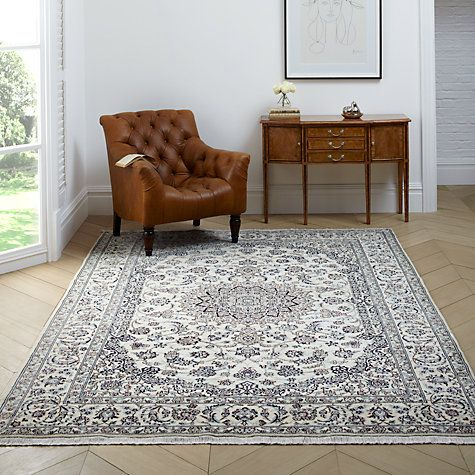 Nain Rug blue & white, persian