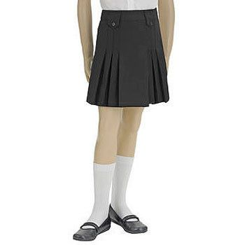 French Toast Girls' Front Pleated Skirt with Tabs in Black #SchoolUniforms