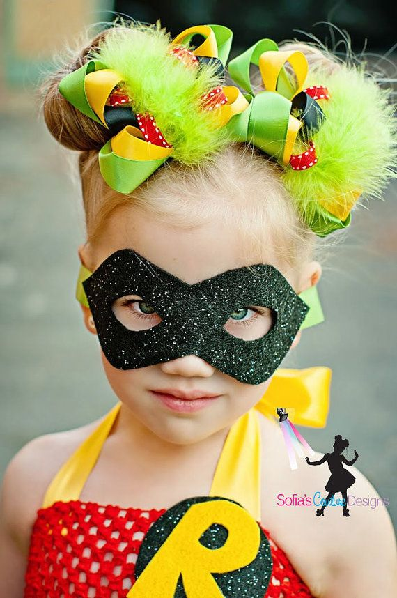 Robin girls Robin superhero pigtails by SofiasCoutureDesigns