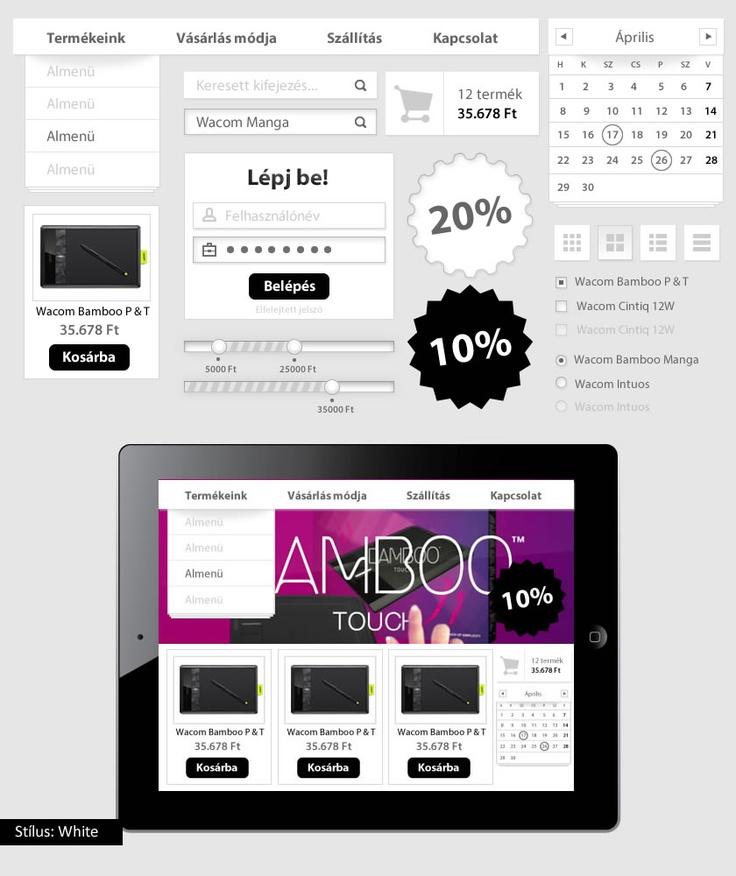 White UI kit - bemutató készlet. A tutorial megvásárolható május 9-től a magui.hu oldalon.