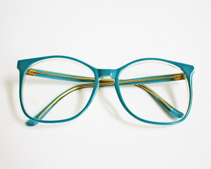 Vintage Hipster Oversized Blue Glasses Frames by RV