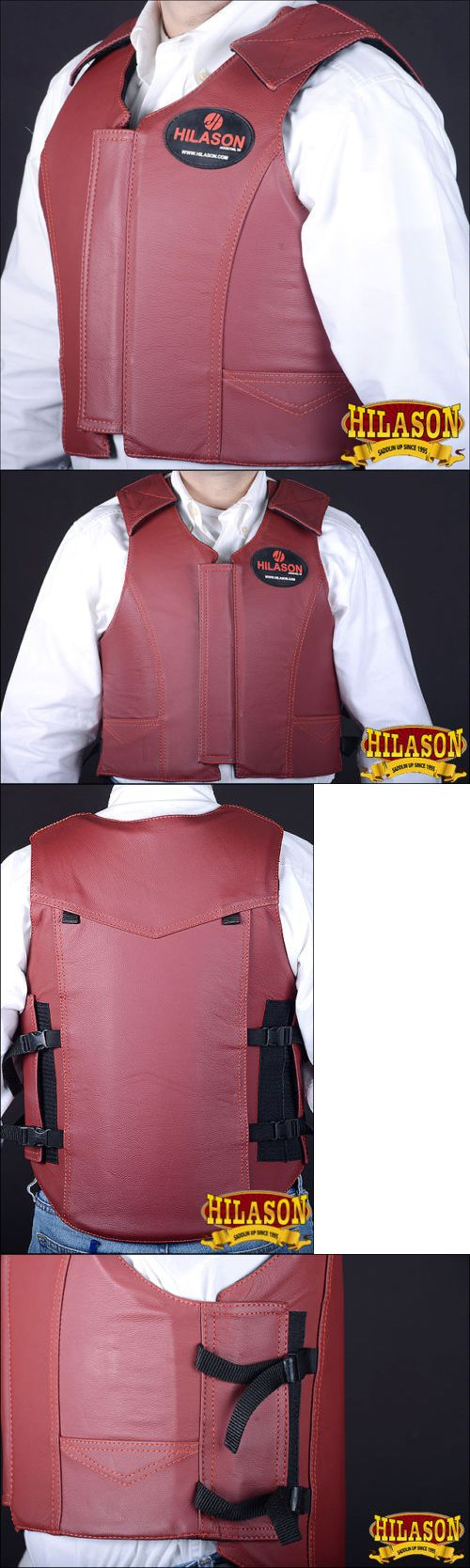 Other Protective Gear 87446: Hilason Leather Bareback Pro Rodeo Bull Riding Protective Vest -> BUY IT NOW ONLY: $149.99 on eBay!