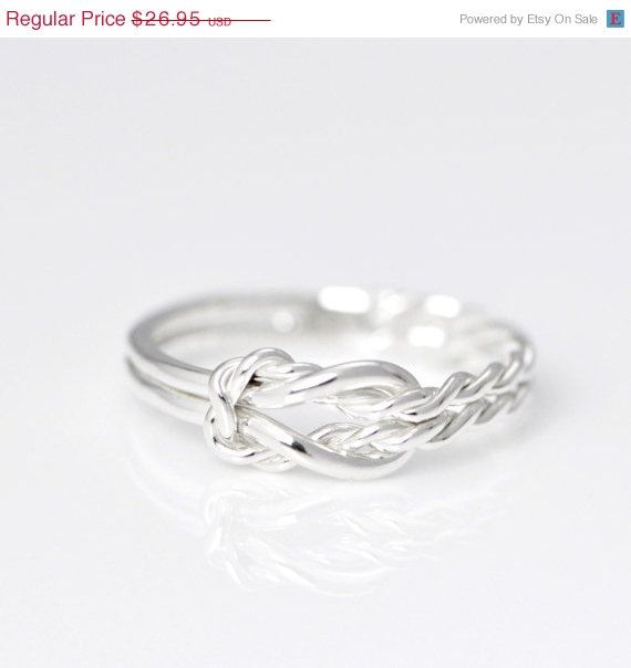 Sale Infinity Knot Ring  Infinity Knot by TheJewelryGirlsPlace